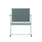 Nobo Mobile Combination Board Magnetic Steel Whiteboard/Grey Felt Noticeboard Horizontal Pivot 1200x900mm