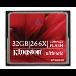 Kingston Technology 32GB Ultimate 266X 32GB CompactFlash Flash memory card