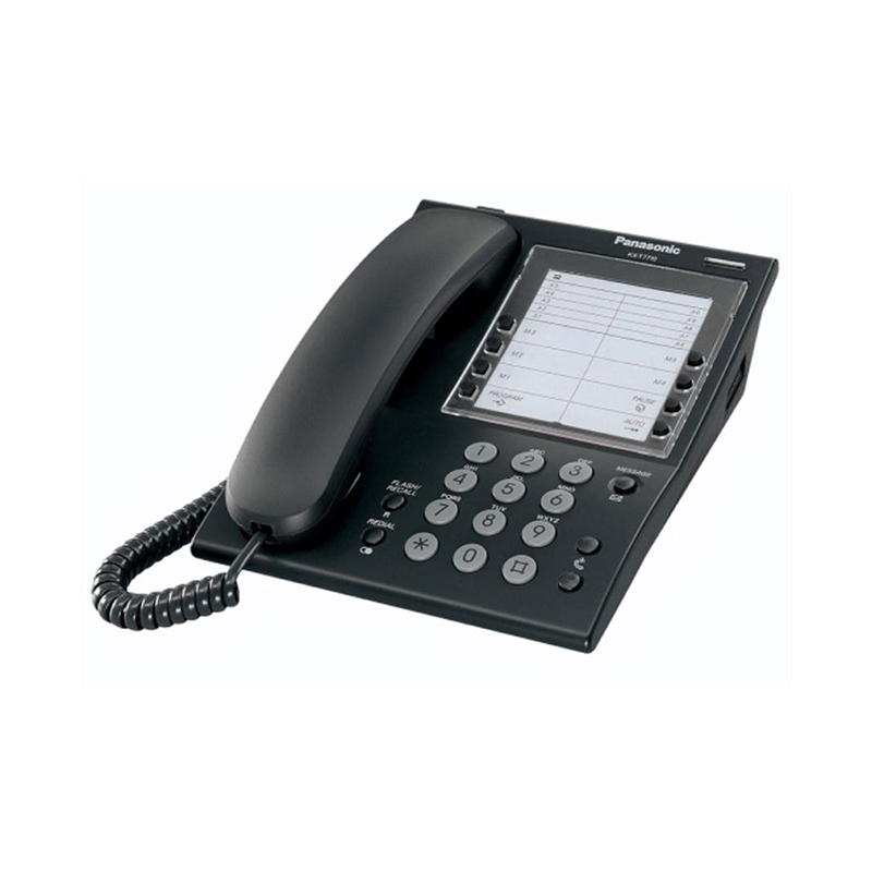 Panasonic KX-T7710E Analog telephone Black