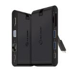 ALOGIC USB-C Travel Dock Pro/USB-C to HDMI 1.4 4K@30Hz + 1 x VGA + 2 x USB 3.0 + 1 x USB-C (Data) Giagbit Ethernet + SD + Micro SD Card Slot + USB-C With PD 100W