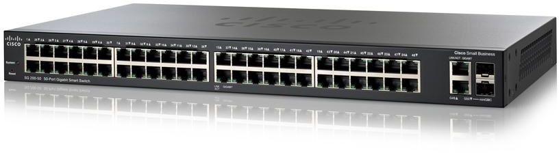 Cisco Small Business SG200-50FP Managed network switch L2 Gigabit Ethernet (10/100/1000) Power over Ethernet (PoE) Black