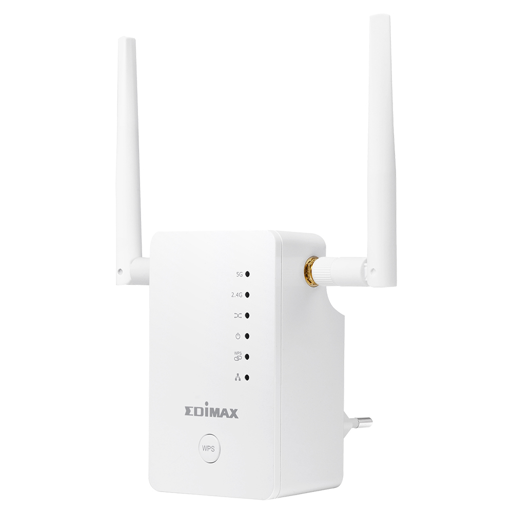 Edimax AC1200 Network transmitter & receiver White 10, 100, 1000Mbit/s
