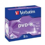 Verbatim DVD+R 4.7GB DVD+R 5pc(s)