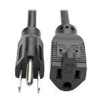 "Tripp Lite P022-012 power cable Black 145.7"" (3.7 m) NEMA 5-15P NEMA 5-15R"