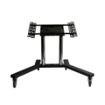 "B-Tech Flat Screen Trolley 65"" Portable flat panel floor stand Black"