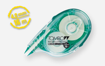Tombow Mono YXE correction tape 16 m Green, Transparent, White