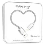 Happy Plugs 2m, Lightning - USB Silver