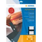 HERMA Fotophan transparent photo pockets 13x18 cm landscape black 10 pcs.