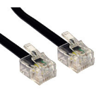Cables Direct 88BT-107.5K telephone cable 7.5 m Black