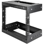 "StarTech.com 8U 19"" Wall Mount Network Rack - Adjustable Depth 12-20"" 2 Post Open Frame Server Room Rack for AV/Data/ IT Communication/Computer Equipment/Switch w/Cage Nuts & Screws"