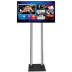 "Allcam FS400BD 60"" Fixed flat panel floor stand Black flat panel floorstand"