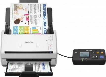 Epson WorkForce DS-530N Sheet-fed 600 x 600DPI A4 Black,White