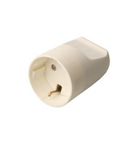Microconnect GRUSPSCHUKOF Schuko White electrical power plug