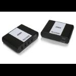 Aten UEH4002 AV extender AV transmitter & receiver Black