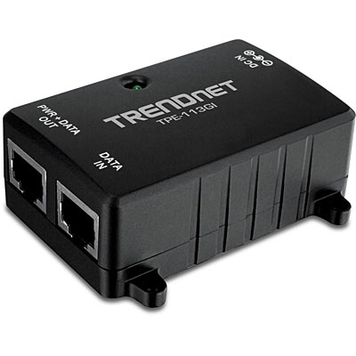 Trendnet TPE-113GI PoE adapter Gigabit Ethernet 48 V