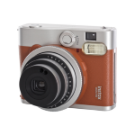 Fujifilm film Instax Mini 90 Instant Camera - Brown inc 10 Shots