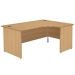 Jemini Oak 1800mm Right Hand Panel End Radial Desk KF838073