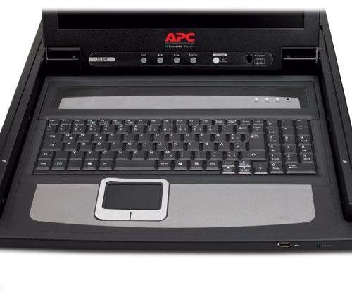 """APC AP5717 rack console 43.2 cm (17"""") Black"""