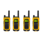 Motorola TLKR T80 Extreme Quadpack 8channels 446MHz two-way radio