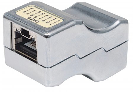 Intellinet Inline Coupler, Cat6, FTP, Locking Function, Metallic