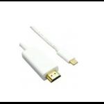 Unirise USBC-HDMI-03F 0.91m HDMI Type A (Standard) USB C White video cable adapter