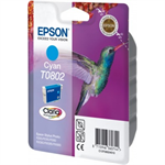 Epson C13T08024011 (T0802) Ink cartridge cyan, 435 pages, 7ml
