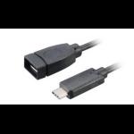 Akasa 15 cm USB 3.1 A/C 150m USB A USB C Male Female Black USB cable
