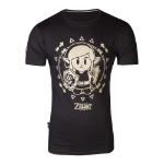 Nintendo Legend of Zelda Link's Awakening Tribal Link T-Shirt, Male, Large, Black (TS682164ZEL-L)