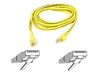 Belkin Patch cable - RJ-45(M) - RJ-45(M) - 2m ( CAT 5e ) 10/100Base-T - yellow 2m Yellow networking cable