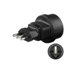 Microconnect PETRAVEL2 power plug adapter Type L (IT) Type F Black