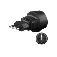 Microconnect PETRAVEL2 power plug adapter Type L (IT) Type F Black