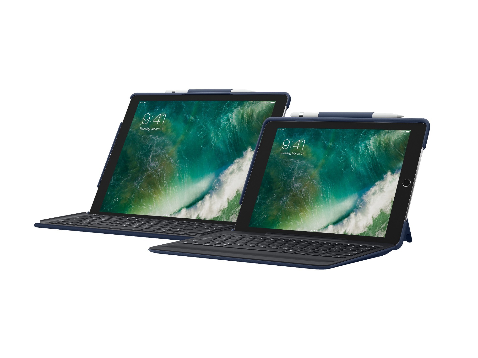 0a52dc3086e Logitech SLIM COMBO Smart Connector QWERTY UK English Blue mobile device  keyboard
