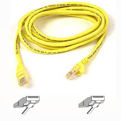 Belkin Cable patch CAT5 RJ45 snagless 3m yellow networking cable