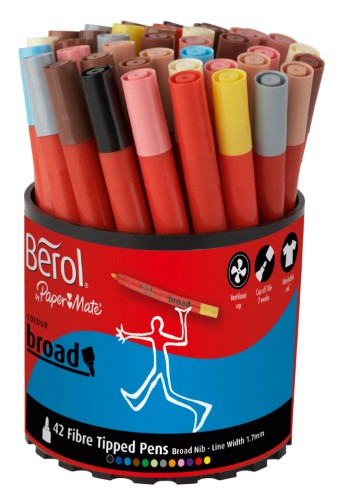 Berol S0375970 felt pen Multicolour 42 pc(s)