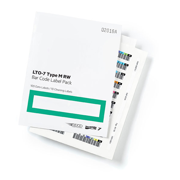 HP LTO-7 Ultrium Type M RW Bar Code Label Pack