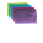Rapesco Foolscap Bright Popper Wallet report cover Blue Polypropylene (PP)