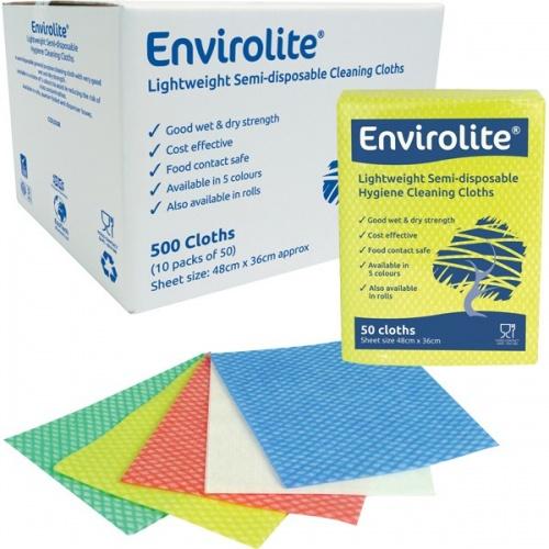 Envirolite Folded Cleaning Cloth Large (48x36cm) Yellow PK50