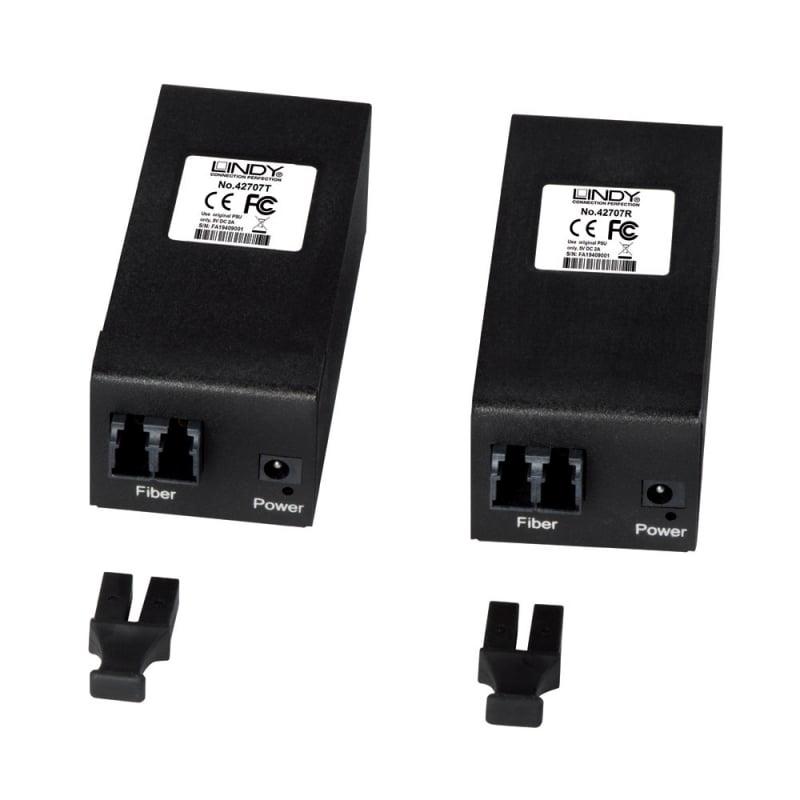 Lindy 42707 AV transmitter & receiver Black AV extender