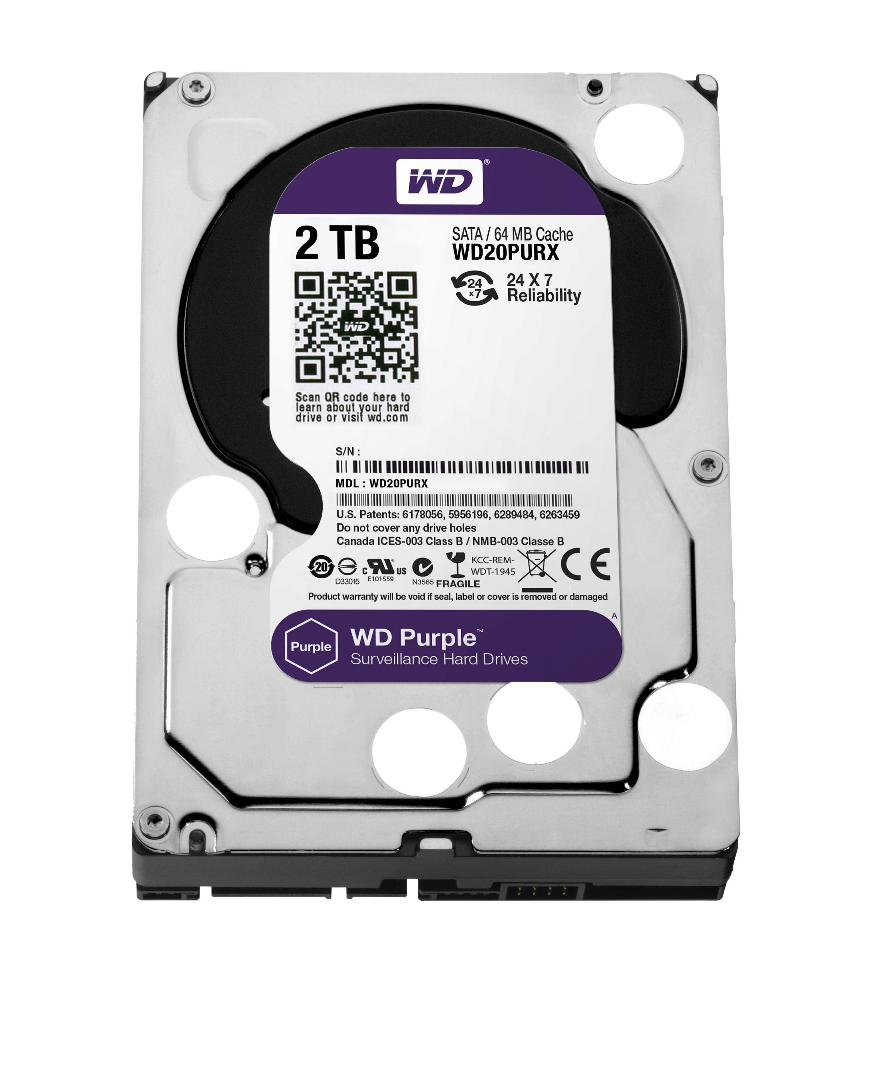 Western Digital Purple 2000GB Serial ATA III