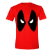 Marvel Men's Deadpool Angry Eyes T-Shirt, Small, Red (TS026POOL-S)