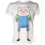 ADVENTURE TIME Finn Print T-Shirt, Male, Extra Large, White (TS291118ADV-XL)