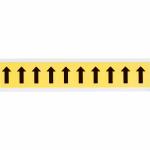 Brady 3430-ARO self-adhesive label Rectangle Removable Black, Yellow 10 pc(s)