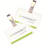 Q-CONNECT Q CONNECT LAMINATED BADGE W/CLIP