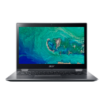 "Acer Spin SP314-51-P2H4 2.3GHz 4415U Intel® Pentium® 14"" 1920 x 1080pixels Touchscreen Grey Hybrid (2-in-1)"