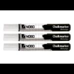 Nobo Chalkmarkers White (3)