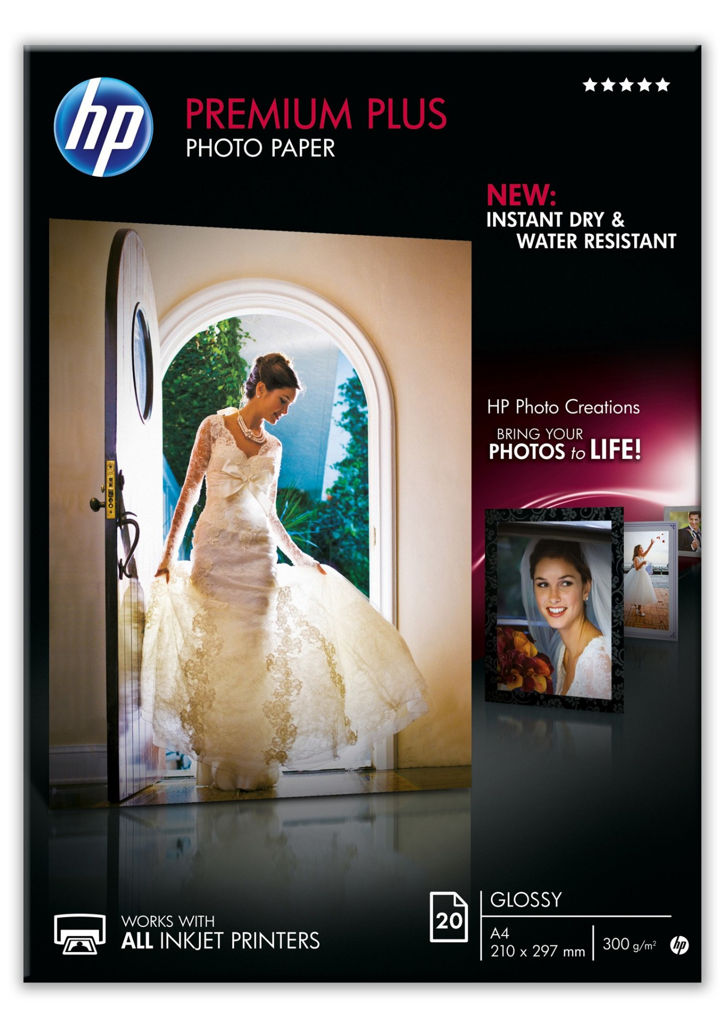 HP Premium Plus Glossy pak fotopapier Glans