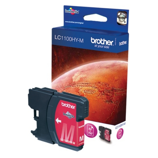 Brother LC-1100HYM Ink cartridge magenta, 750 pages, 10ml LC1100HYM