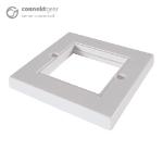 CONNEkT Gear Single Faceplate for RJ45 Modules - 2 Module version 85 x 85mm - White 90-0100