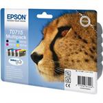 Epson C13T07154022 (T0715) Ink cartridge multi pack, 7,4ml+3x5,5ml, Pack qty 4