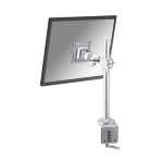 "Newstar Tilt/Turn/Rotate Desk Mount (clamp) for 10-30"" Monitor Screen, Height Adjustable - Silver"